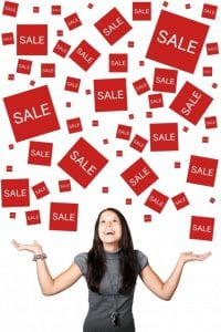 Sales raining from the sky