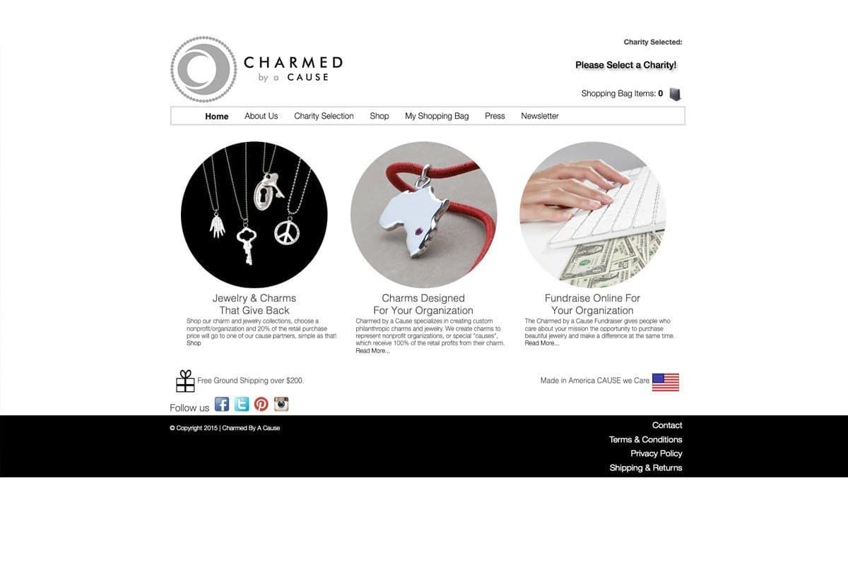 eCommerce Jewelry Website before