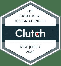 Clutch Award fo NJ creative agency 2020