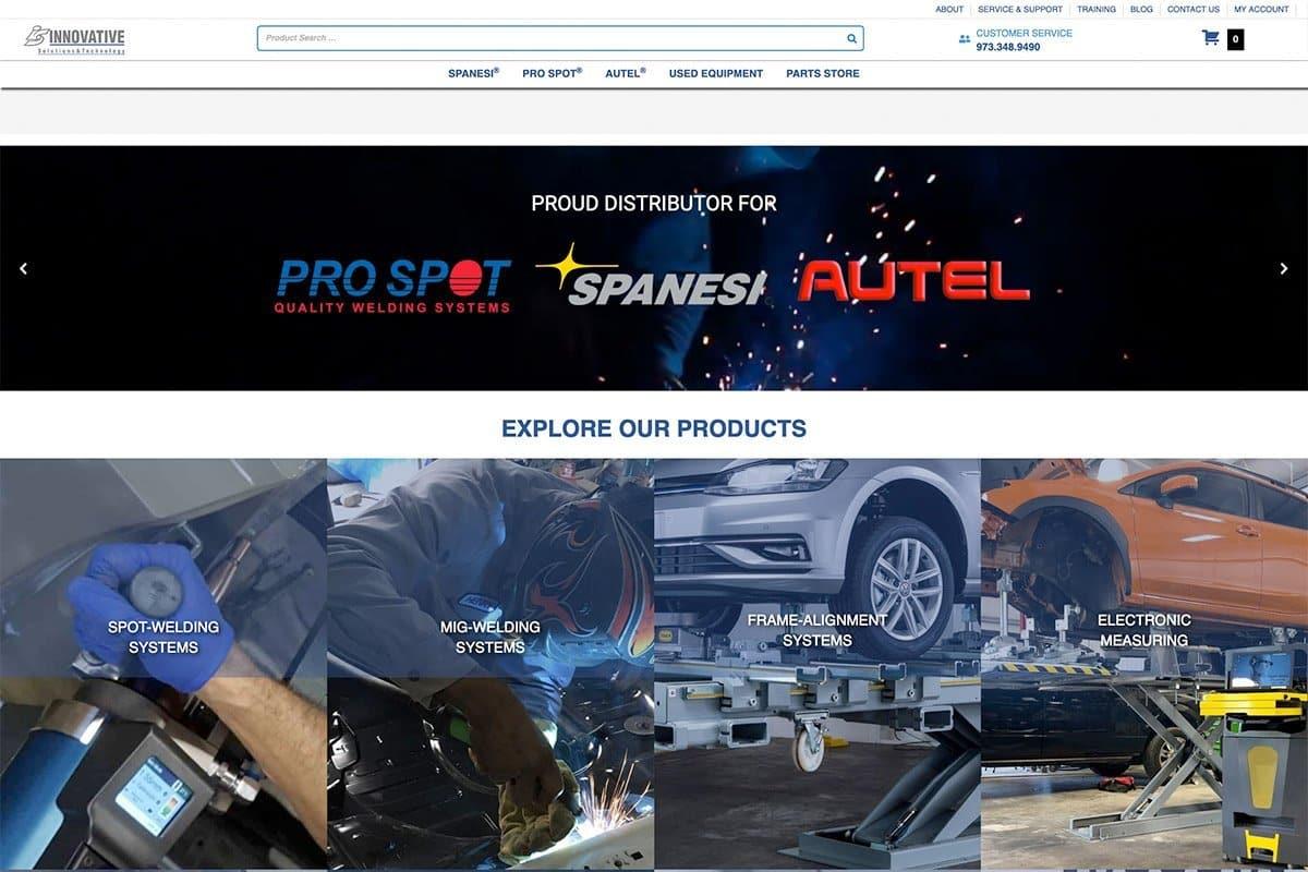 Auto Body Repair equipment supplier website
