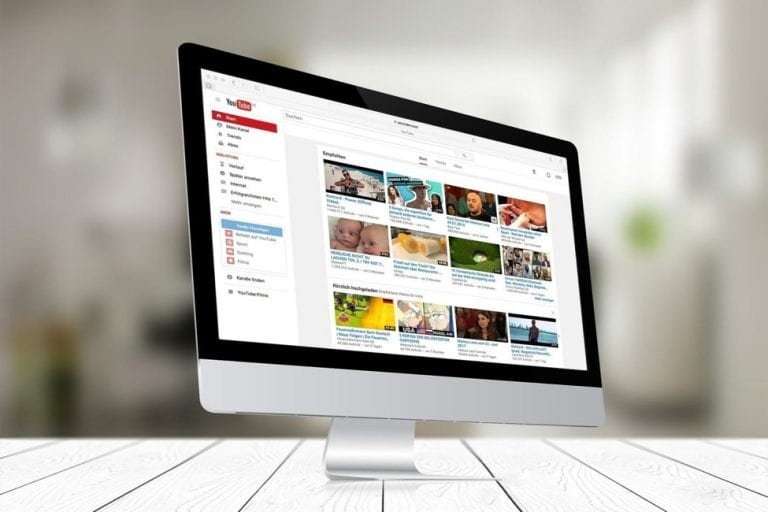 mac with youtube homepage